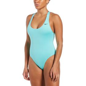 Nike Swim Logo Tape Crossback Swimsuit Women, turquoise